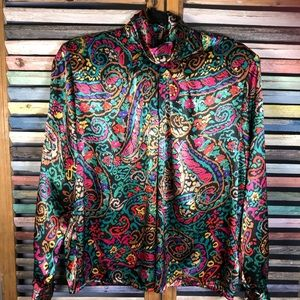 Yves St. Clair multi color vintage shirt
